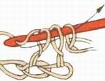 Вязание крючком. Двойной сокращенный столбик с накидом.