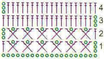 Схема вязания - посмотреть, увеличить схему