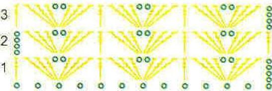 Схема вязания - посмотреть увеличенную схему