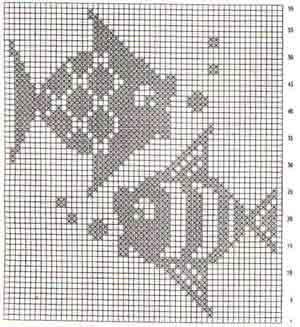 Схемы филейного вязания крючком