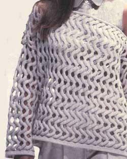 Вязание спицами сеткой